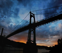 the more we see, the more we are capable of seeing (manyfires) Tags: sunset clouds oregon portland pacificnorthwest pdx stjohnsbridge