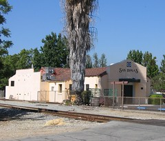San Dimas, CA train station (kla4067) Tags: santafe trainstation sandimas atsf