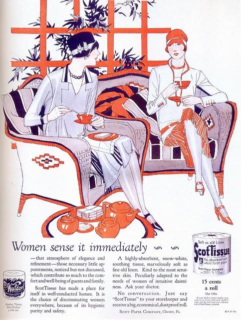 Scot Tissue ad, 1926