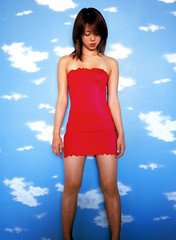 rED cLOTHES  Mayuko Iwasa (g2slp) Tags: red sky woman cloud girl japan dress clothes giappone reddress  mayukoiwasa