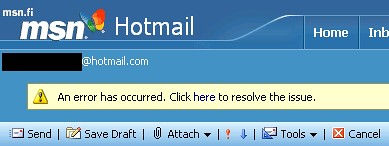 Hotmail problem by vonkale.
