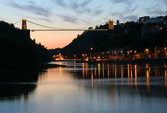 The dimming of the day (*Firefox) Tags: city bridge reflection water night bristol geotagged lights bravo dusk getty suspensionbridge clifton brunel isambardkingdombrunel geo:lat=51446881 geo:lon=2624407 flickl2 gettyimagesuklocation