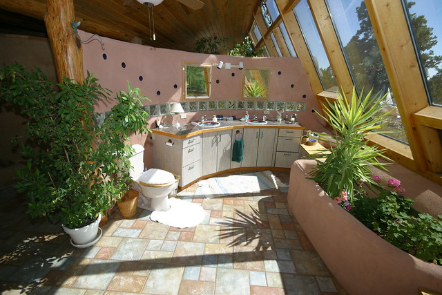Black Forest passive solar tire house