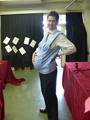 ross gets knocked up (highglosshighs) Tags: school baby festival japan ross october 2006 pregnant belly  toyama fukumitsu