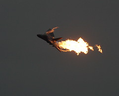 F-111 Dump 'n Burn I (The Sage of Shadowdale) Tags: speed plane wow d50 spectacular fire dangerous fighter aviation military jet australian fast dump richmond airshow flame burn airforce raaf fuel aardvark f111 generaldynamics 80400mmf4556dvr auselite