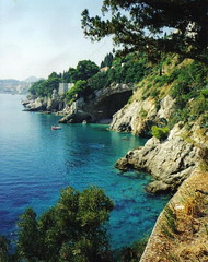 Sunce-More-Kamen (girlguyed) Tags: blue sea beach nature coast turquoise cyan croatia coastline karma dubrovnik adriatic dalmatia abigfave colorphotoaward