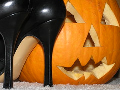 Hallowe'en (w8ter_m) Tags: black halloween pumpkin carved shoes highheels footwear heels stiletto schuhe geiger outstandingshots isawyoufirst wowiekazowie artsyfartsyfeet