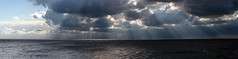 bigger ray of light (pixienicki) Tags: sun lake water clouds panoramic rays bigger pointpelee thetip