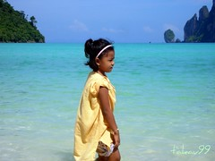 Cute Thai Girl on the Beach, Thailand