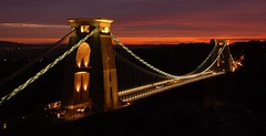 Clifton Suspension Bridge (Joe Dunckley) Tags: uk sunset england night bristol bridges cliftonsuspensionbridge ikb payitforward avongorge suspensionbridges abigfave