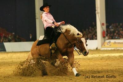 Kim Obenhaus Deutsche Meisterin Reining Junior 2006