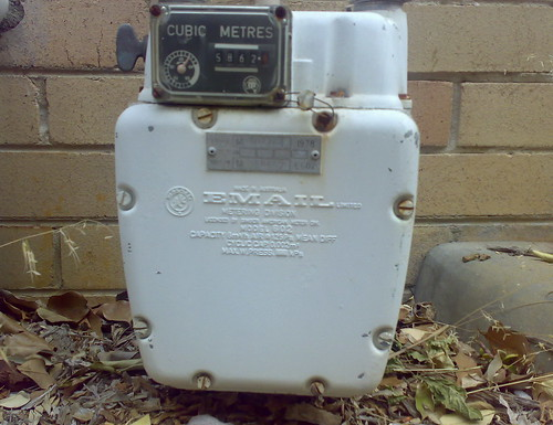 This is a picture of a water meter from 1968 manufactured by an Australian company called Email.