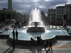 Trafalgar Square.....(EXPLORE#120) (davidezartz) Tags: uk greatbritain blue light england sculpture sunlight reflection