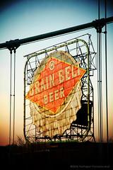 """""""Grain Belt Beer"""" (jpnuwat) Tags: sign evening minneapolis landmark ne twincities hennepinavenuebridge grainbeltbeer dsc014183"""