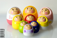 Unazukin family - expanded! (nikita2471) Tags: pink blue red white cute green yellow japan toys colorful purple peach lilac kawaii gashapon wobble weeble unazukin