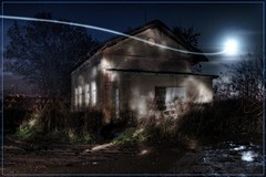 Will o' the wisp (Stevacek) Tags: longexposure light moon lightpainting d50 nikon paint torch flashlight hdr jicin willothewisp baterka tthdr voksice bludicka