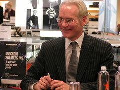 Tim Gunn of Project Runway at the Macy's in do...
