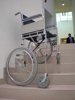 Andreas Slominski 'Rollstuhl zum Queren der Treppe in Odessa,' Wheelchair to cross the Stairs in Odessa, Museum of Modern Art, Frankfurt