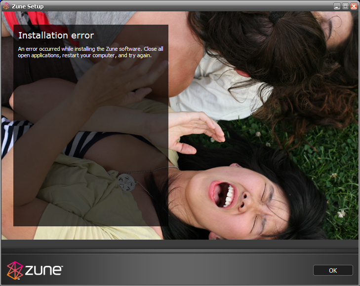 Zune Software Fail