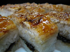 Anago Delight (jasonkrw) Tags: food fish macro japan closeup sushi rice miyajima japanesefood eel anago  saltwatereel