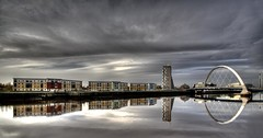 waterfront (mike138) Tags: clyde waterfront glasgow hdr refelections x3exp
