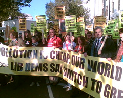 Even more Lib Dems on the Stop Climate Chaos March (greentaxswitch) Tags: green switch politics environment tax democrats liberal