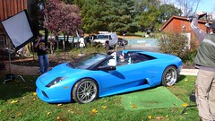 Bam Margera's ride (underwhelmer) Tags: blue photoshoot lamborghini roadster murcielago bammargera