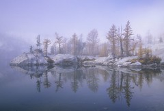 Quiet (velvia rules!) Tags: light mist lake nature topf25 fog see washington tranquility fv5 topf larch enchantments alpinelakeswilderness instantfave instantfav