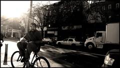 burstbke.jpg (shveckle) Tags: nyc bw sun man bicycle brooklyn streetphotography parkslope sunburst streetphoto gothamist manonbike wechsler shveckle