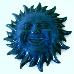 BLUE (newpn2000) Tags: blue light summer sun white holiday home smile face wall ceramic reflex glow object sparkle beams minorca interestingpic