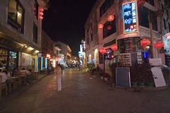 Yangshuo street scape (yewenyi) Tags: china road street trip vacation holiday night lights photo asia neon tour yangshuo  streetscape  guangxi eastasia  yngshu  phototour   gungx kuanghsi kwangsi guangxizhuangautonomousregion