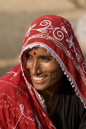 Rajasthani Lady Smiling