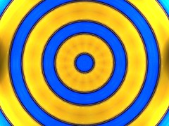 Blue yellow waves (Marco Braun) Tags: blue yellow photoshop jaune kaleidoscope mandala bleu amarillo gelb blau dogen concentric cercle  kreis circel kaleidoskop  cercles kreise  circels  flavus     kalidoscope konzentrisch concentrique
