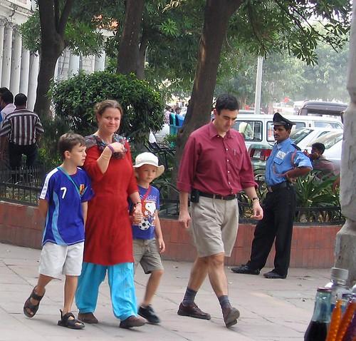 Tourist Family, Connaught Place, Delhi