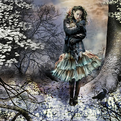 Chilly Embrace (Gale Franey) Tags: winter snow cold graphicart photoshop graphicdesign squirrel bravo friendship foreboding digitalart computerart embrace computergraphics galefraney gtaggroup goddaym1 abigfave coolprospect galefra obramaestra