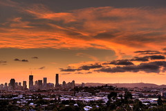 Sunset over Brisvegas (Garry - www.visionandimagination.com) Tags: sunset lights oz australia brisbane qld aus interestingness112 i500 anawesomeshot visionandimagination wwwvisionandimaginationcom