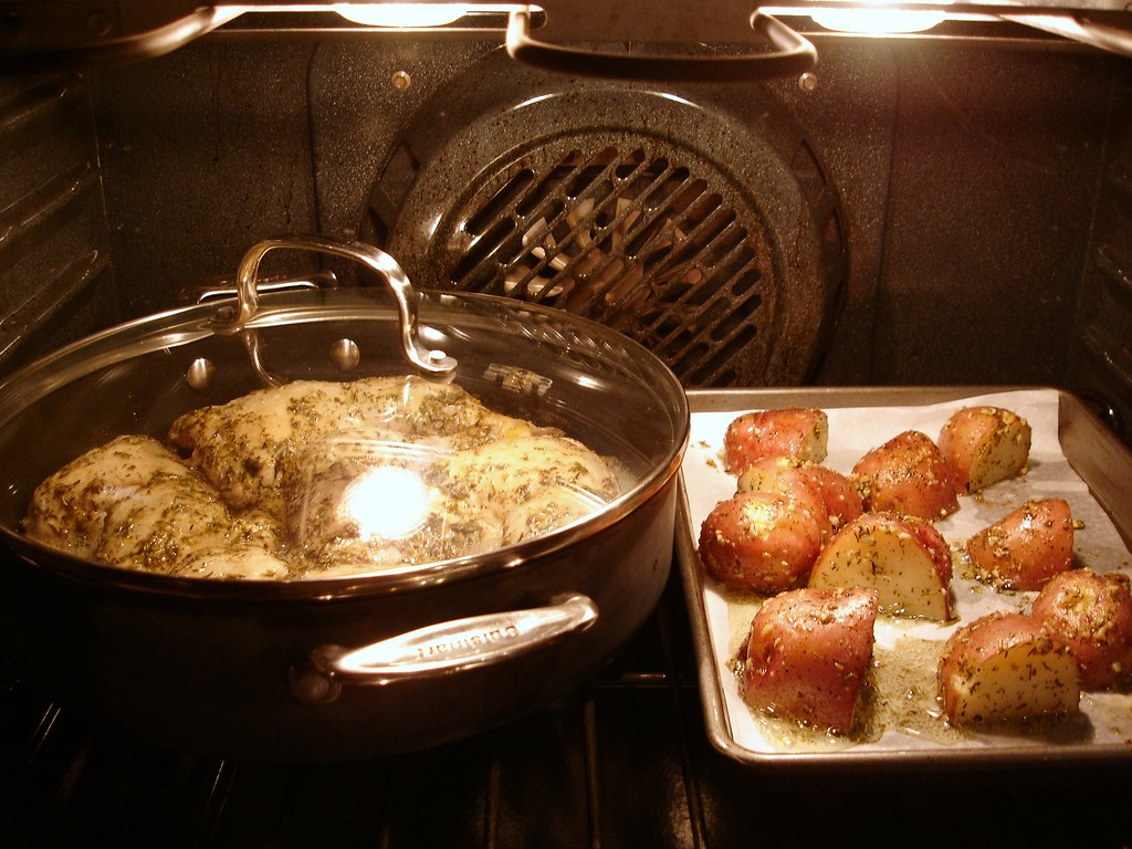 Honeyed Chicken Legs & Roasted Potatoes with Herbs