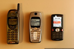 cell phone evolution - from nokia brick to son...