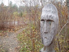 sculpture garden head