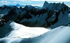 Aiguille du Midi (Stephen P. Johnson) Tags: snow france mountains alps wow climb mt velvia midi chamonix blanc aiguille spectacularlandscape