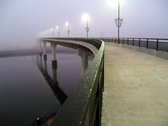 Big Dam (foggy) Bridge