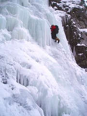 Drop Those Heels! (Dru!) Tags: 2005 winter canada cold ice frozen waterfall bc britishcolumbia january climbing solo steven crampon iceclimbing frasercanyon malfunction fraservalley soloing stemalot iceclimb firstascent harng