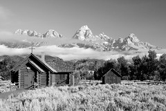 Lift Up Your Eyes to the Mountains (Robby Edwards) Tags: vacation mountains building church nationalpark chapel wyoming grandteton episcopalchurch grandtetonnationalpark houseofworship chapelofthetransfiguration specland logcabinchapel impressedbeauty