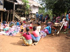 Hilltribe market set up (procrastinatr) Tags: thailand rei hilltribe