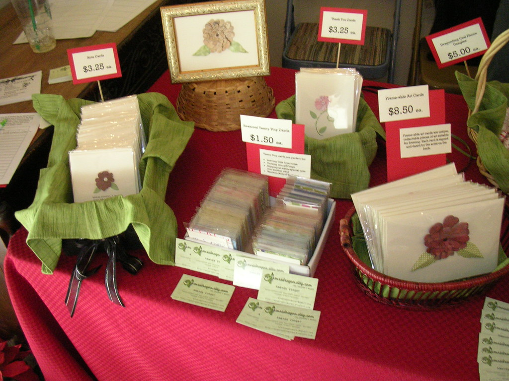 Dec 2 Craft Fair Table--Left Side