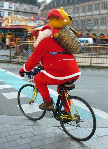 Santa Rides A Bike!