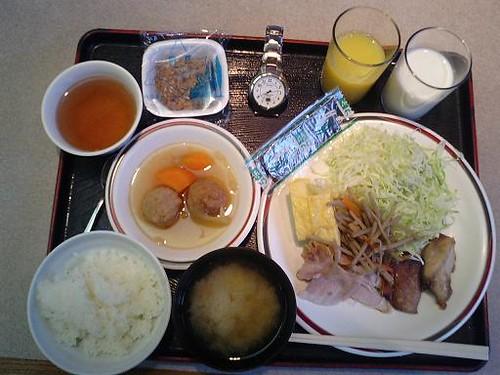 Self service breakfast in Kashiwazaki