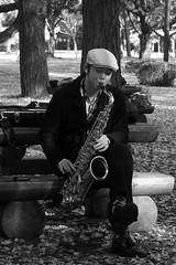 Yoyogi-Park Saxophone Player