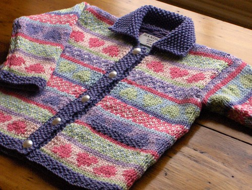 Fair Isle Baby Knitting Patterns http://loopyknitter.wordpress.com/2007/02/21/fair-isle-cardigan-for-baby/