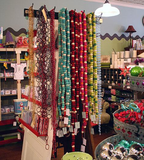 digs: felted wool garlands